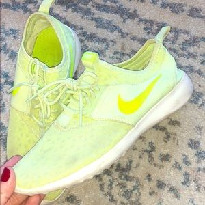 Bright neon Nike sneakers!